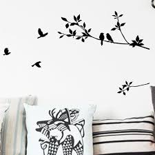 Aliexpress Home Decor Aliexpress Com Buy Removable Tree Branch And Bird Wall Stickers