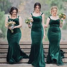 vintage green velvet long wedding guest dresses cheap elegant