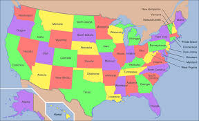 united states map with state names and time zones us map with states names