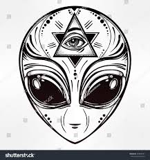 icon halloween alien face icon halloween conspiracy theory stock vector 403808191