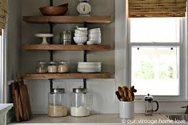 cool open kitchen shelves with brackets bhg dream house details 2