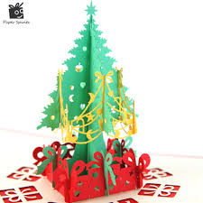 aliexpress com buy merry christmas tree vintage 3d laser cut pop