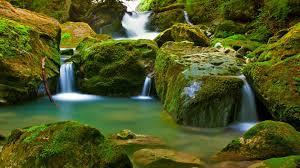 nature rocks waterfall scenery hd quality desktop background