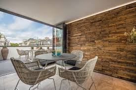 wood textured wall penthouse apartment in st james u0027s london