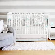 Gray Baby Crib Bedding Turquoise And Gray Crib Bedding Contemporary Nursery New