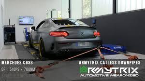 mercedes espa l 2018 mercedes amg c63s coupe sistema de escape armytrix