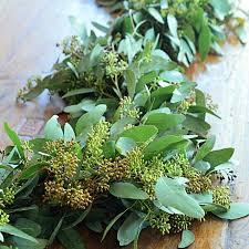 greenery garland seeded eucalyptus garland fresh garland wedding garland greenery