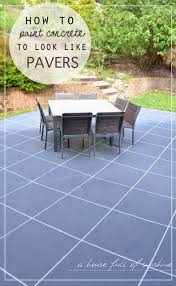 Can You Paint Patio Pavers Backyard Makeover How To Paint Concrete To Look Like Oversize