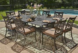 powder coated aluminum outdoor dining table cast aluminum patio sets awesome how to repair cast aluminum patio
