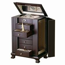 free standing jewellery armoire uk jewelry armoire with lock and key new locking box black wood chest