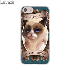 Grumpy Cat Meme I Had Fun Once - lavaza grumpy cat meme lovely hard cover case for apple iphone 8 7