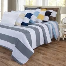 Duvet Overstock Superior 600 Thread Count Cabana Stripe Cotton Blend Duvet Cover