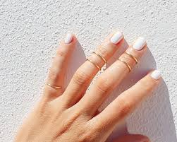 midi ring set 5 gold knuckle rings gold ring set gold stacking rings
