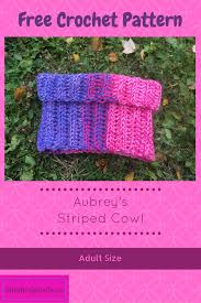 aubrey u0027s striped cowl u2013 u2013 stitched pixels