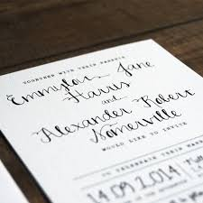 calligraphy for wedding invitations calligraphy wedding invitation stationery by feel wedding
