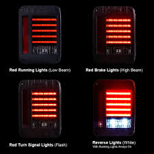 jeep back lights led tail lights for jeep wrangler jk 2007 2017 pair u2013 4wdmuscle