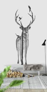 48 best motiv konst images on pinterest wall mural photo deer silhouette wall mural wallpaper