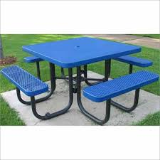 Picnic Table Frame Champion 4 U0027 Square Freestanding Picnic Table Expanded Metal Mesh