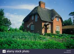 thatched detached country house vegetable garden wiltshire