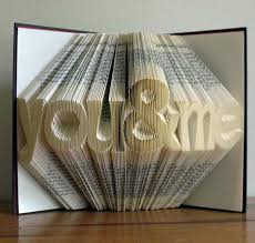 paper anniversary gifts folded book paper anniversary gift for him or date