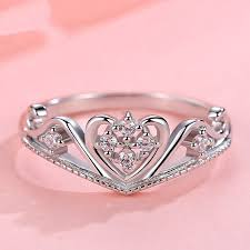 crown engagement rings images 925 silver court crown happiness engagement ring crown rings jpg