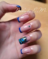 best 25 blue french manicure ideas on pinterest color french