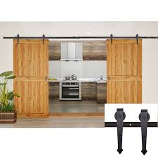 Sliding Door Wood Double Hardware by Amazon Com Coocheer 12ft Black Modern Rustic Style Barn Wood
