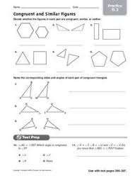 Similar And Congruent Figures Worksheet Congruent And Similar Figures 4th 6th Grade Worksheet Lesson