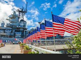 Big American Flags Honolulu Oahu Hawaii Usa Image U0026 Photo Bigstock