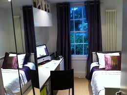 Guest Bedroom Ideas Decorating Pure White Computer Desk With Wardrobe Mirror Sliding Door And