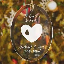 in loving memory personalized memorial ornament with