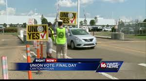 nissan frontier jackson ms nissan workers cast ballots for and against union youtube