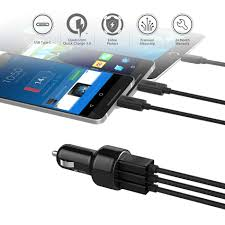 Car Phone Charger With Usb Port Aliexpress Com Buy Aukey Quick Charge 3 0 3 Ports Usb Car
