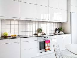 Backsplash Tile Ideas For Small Kitchens Interior Splendid Small White Gloss Galley Kitchen Decoration
