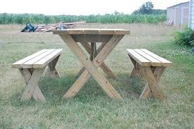 Plans For Building A Picnic Table With Separate Benches by Weekend Diy Picnic Table Project Diydiva