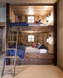 Built In Bunk Bed Rustic Built In Bunk Beds Rustic With Shade Bunk Room