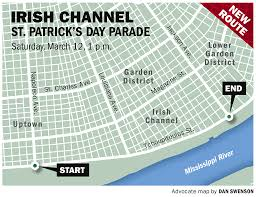 st patrick u0027s day parties parades in new orleans area routes