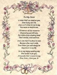 Wedding Quotes Poems Bride Wedding Card For Sister Bride To Be Keepsake Poem