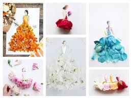 real petals real flower petals fashion design illustrations