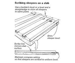 laying a wood deck on a wavy slab homebuilding