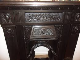 victorian fireplaces finishes cast iron fireplace restored