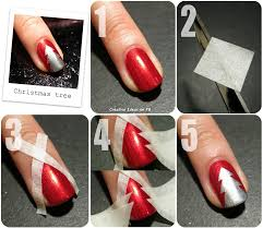 information technology christmas tree nail art