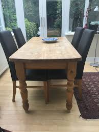 Rustic Farmhouse Dining Tables Victorian Solid Pine Farmhouse Dining Table Antiques Atlas Solid