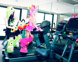 Exercise Halloween Costumes Josie Stevens Married Rock Valentine Monster