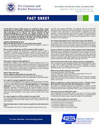 Electronic System For Travel Authorization images Free esta u s a fact sheet templates at png