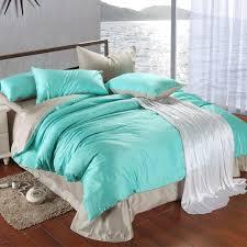 luxury bedding set king size blue green turquoise duvet cover grey