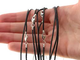 necklace cords with clasp images Black or tan leather cord with clasp hausen rock treasures jpg
