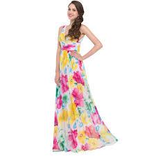 beautiful long maxi dress double v neck flower pattern floral