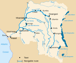 Republic Of Congo Map Congo Democratic Republic Detailed Map Of River And Lakes