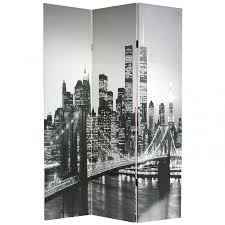 White Room Divider - 6 ft tall new york scenes room divider roomdividers com
